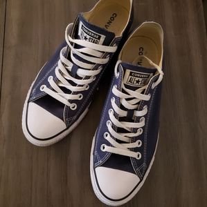 Blue Converse Sneakers.